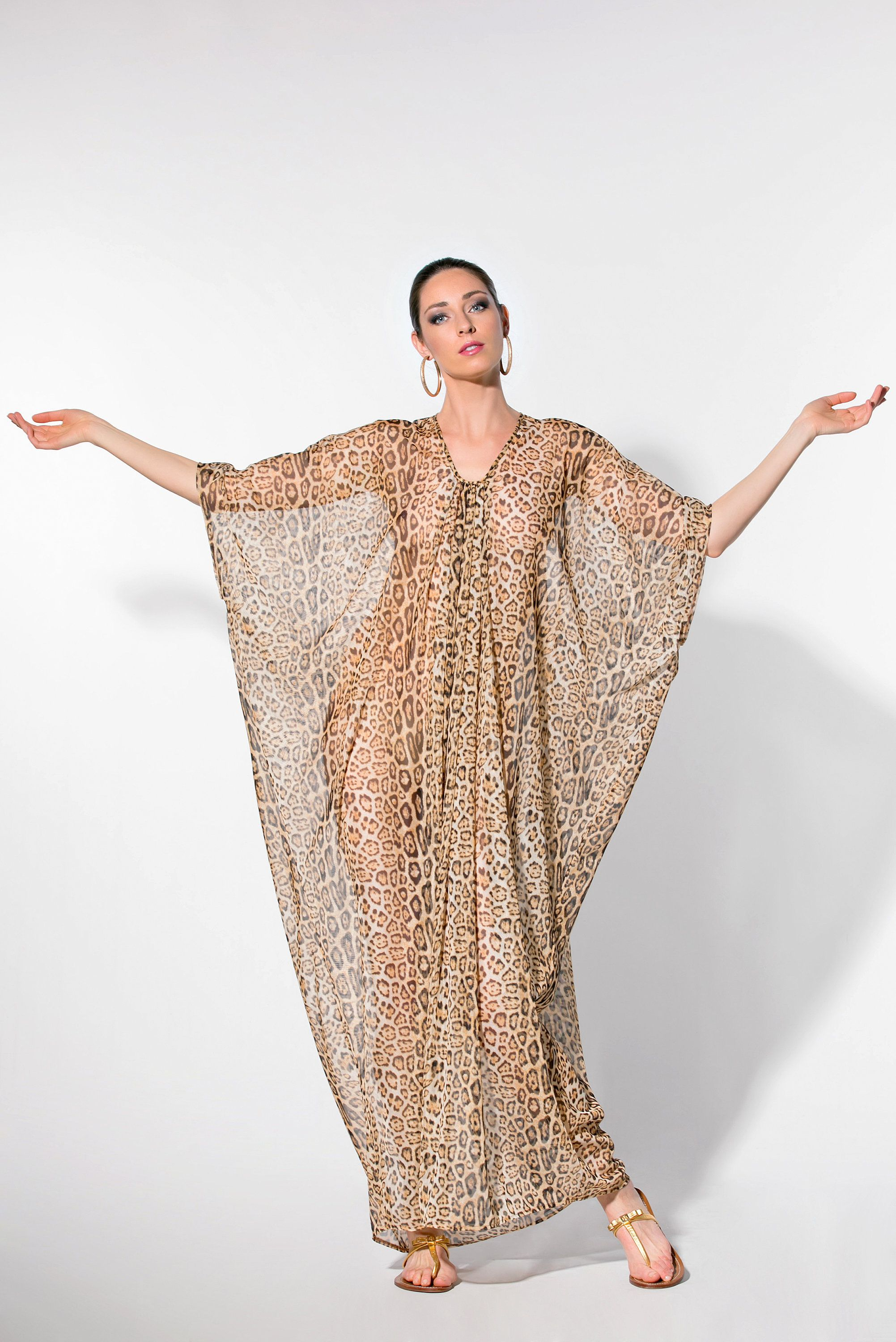 2381a4aedb Animal Print Sheer Cover Up, 111.328 in 2019 | MAXI DRESSES and ...