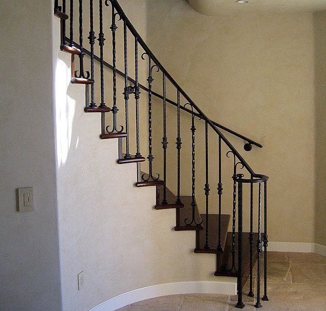 Stairway Railing Ideas: Wrought Iron Railing Designs Rod