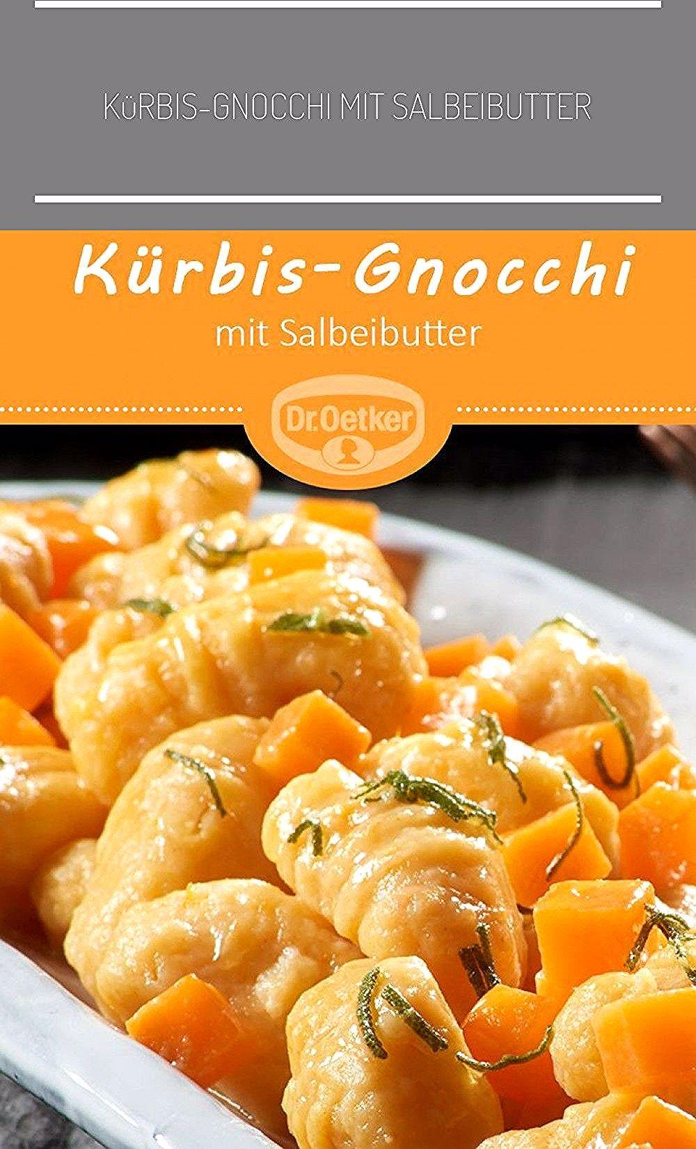 KürbisGnocchi mit Salbeibutter Leckeres KürbisRezept mit Kartoffeln automne vegan KürbisGnocchi mit Salbeibutter