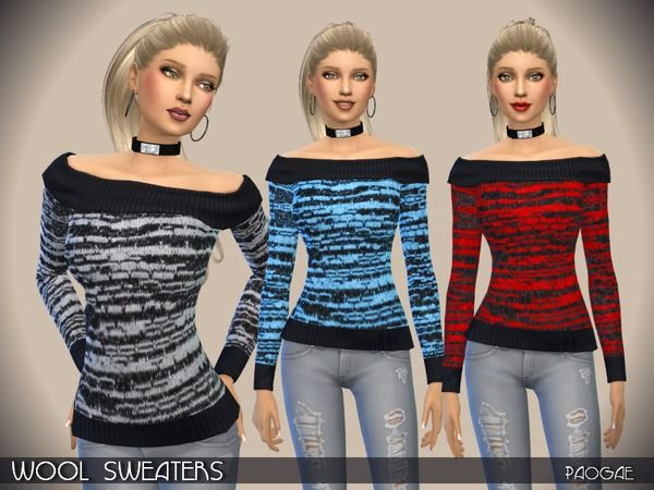 The Sims Resource: Wool Sweaters by Paogae • Sims 4 Downloads   Sims