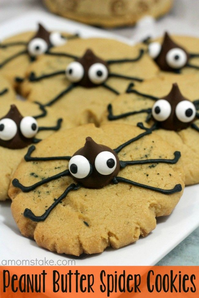 peanut butter spider cookies a cute and easy halloween treat recipe