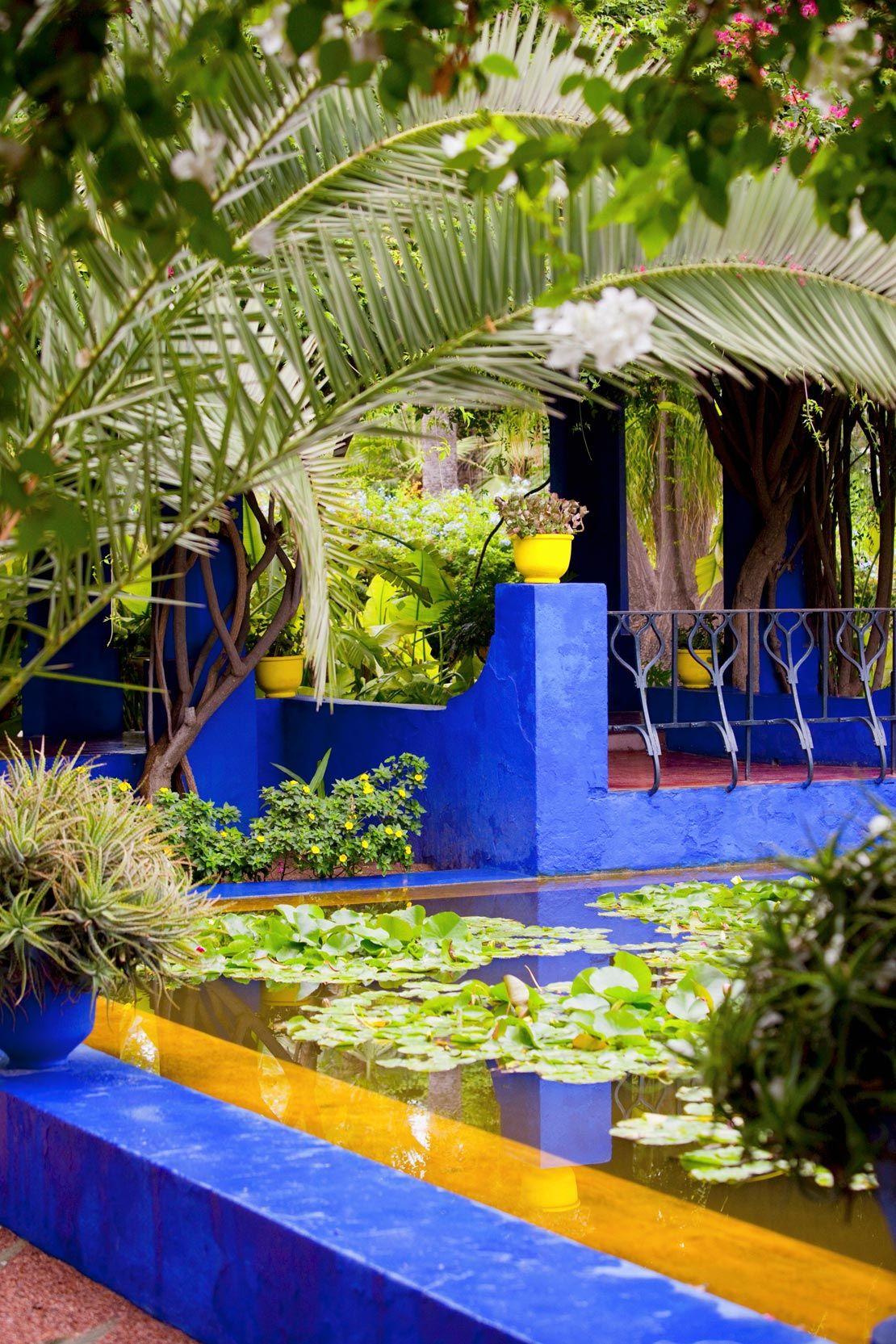 Jardin Majorelle Traum Von Marrakesch Mehr Im Westwing Blauer Garten Und Marrakesch