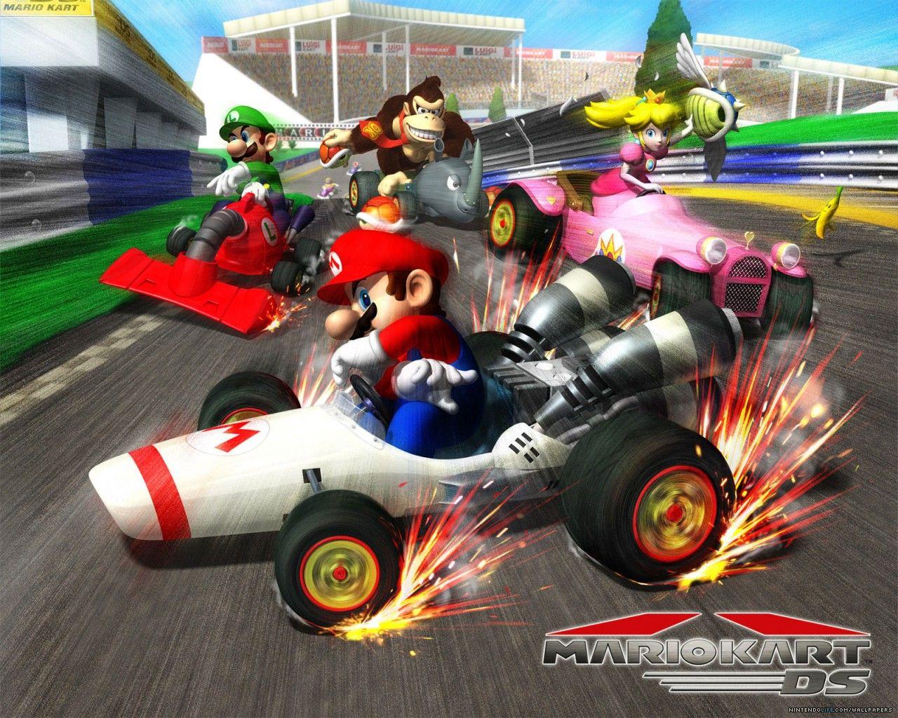 Top Five Kart Racing Games Mario Kart Ds Mario Kart Super Mario Kart