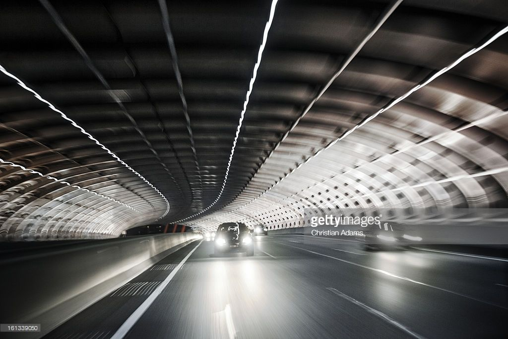 Melbourne City Link Street Tunnel At Night City Melbourne Street