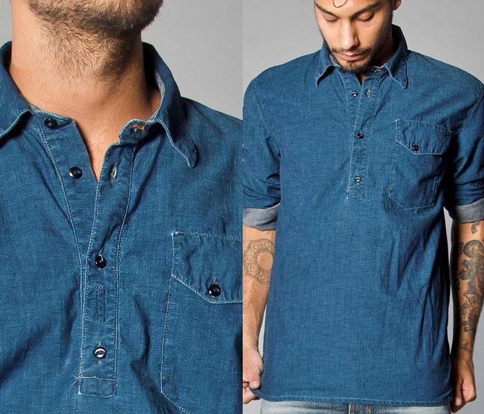 331675ce649 Nudie Jeans 2013 Spring Summer Mens Capsule Collection - Brilliant Blues - Denim  Button Down Shirts   Raw Dry Rigid Organic Denim Jeans  Designer Denim ...