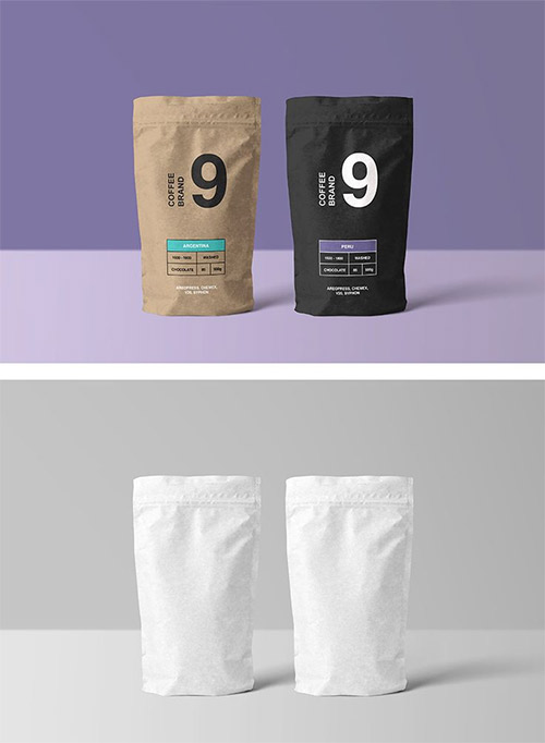 "Download Paper Coffee Bag Mock Up Mockups Free Psd Templates Ì¢…이 Ë´‰íˆ¬ ͏¬ìž¥ ͙""장품 ˔""자인"