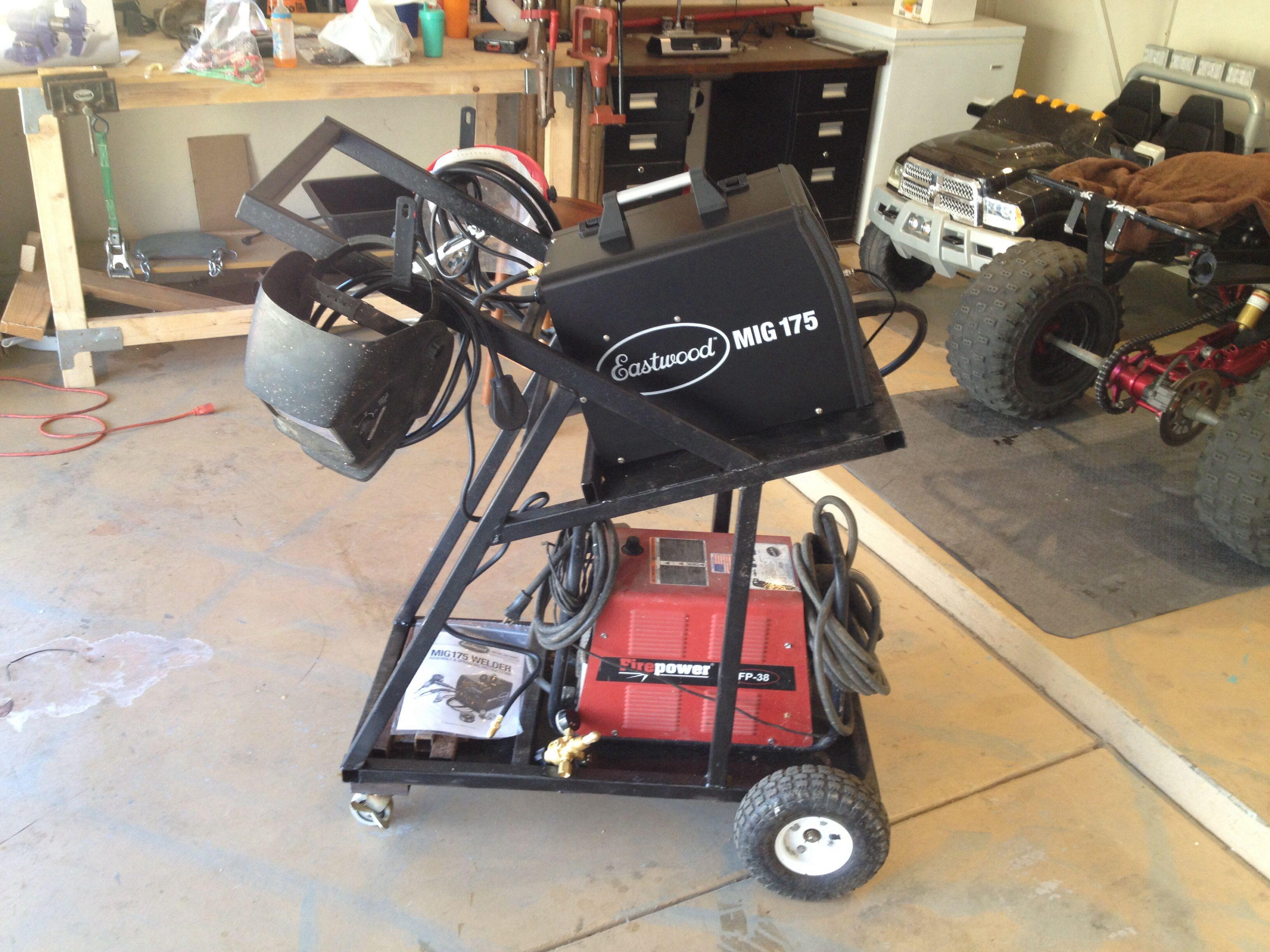 Homemade Welder/plasma cutter cart