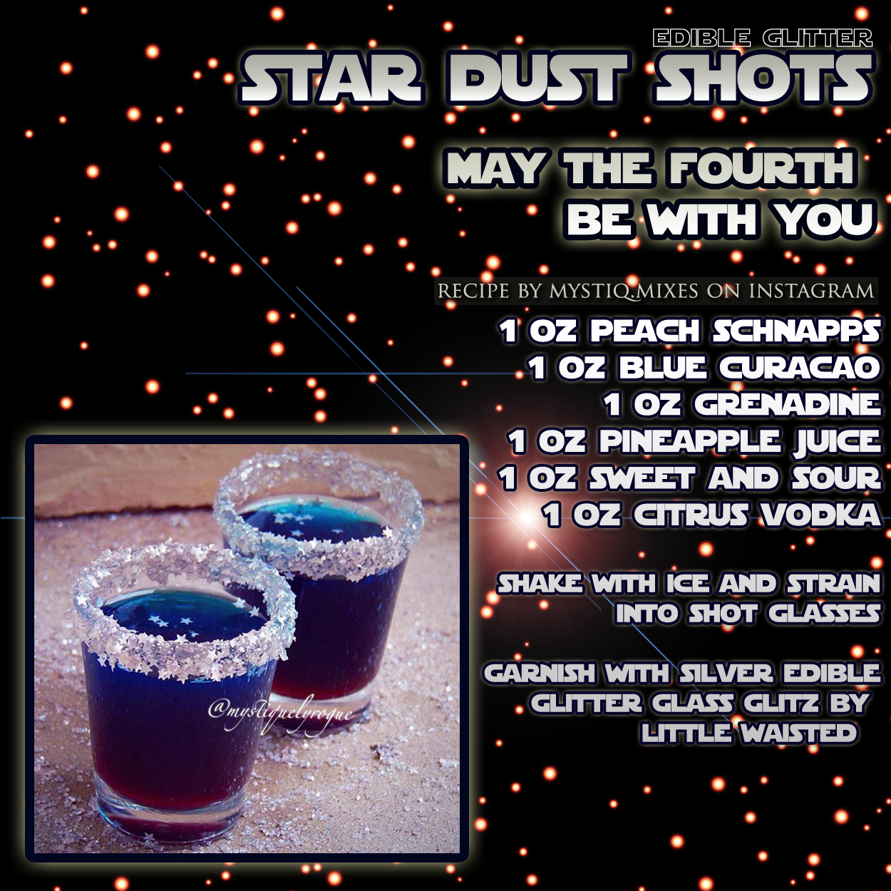 May The Fourth Be With You Recipes: MAY THE FOURTH BE WITH YOU: Star Wars Galaxy Themed Star