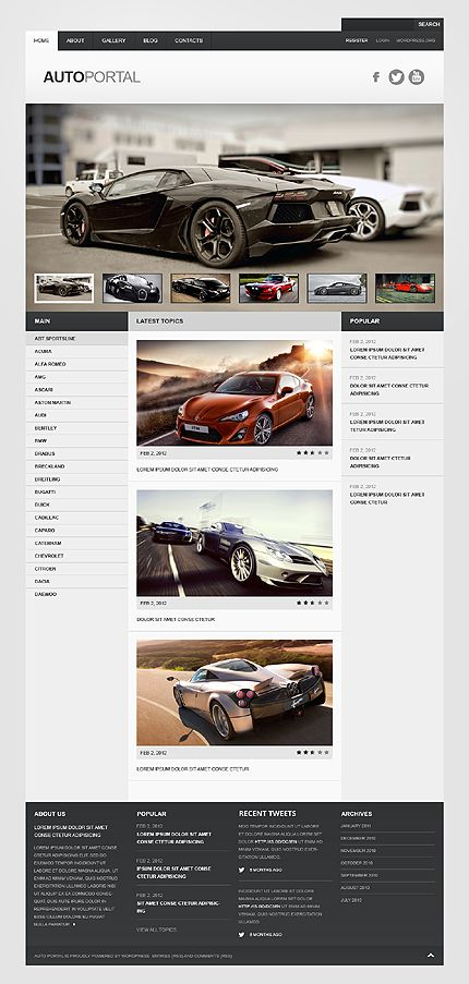 Gray car wordpress theme template website and wordpress 35 free elegant website templates free download all website templates are pre designed maxwellsz