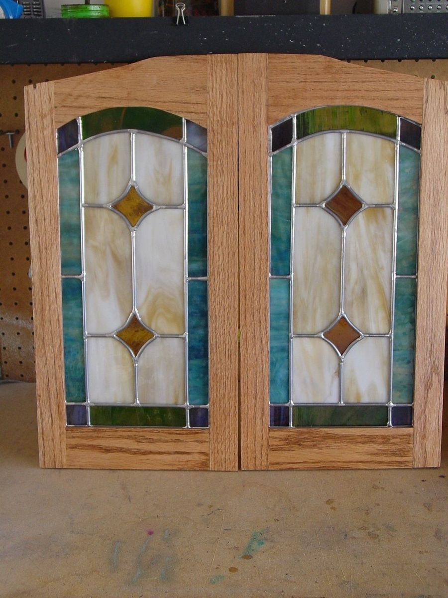 Hand Made Cabinet Door Stained Glass Panels By Chapman Enterprises