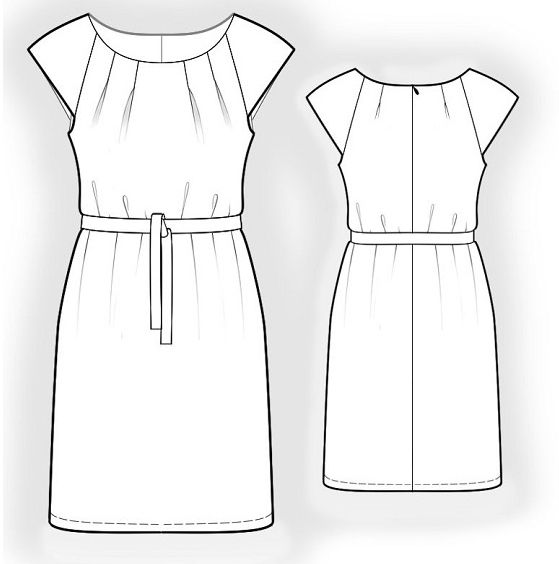 free pattern - Gr. 36 - 50 | Õmblemine | Costura, Patrones, Costura diy