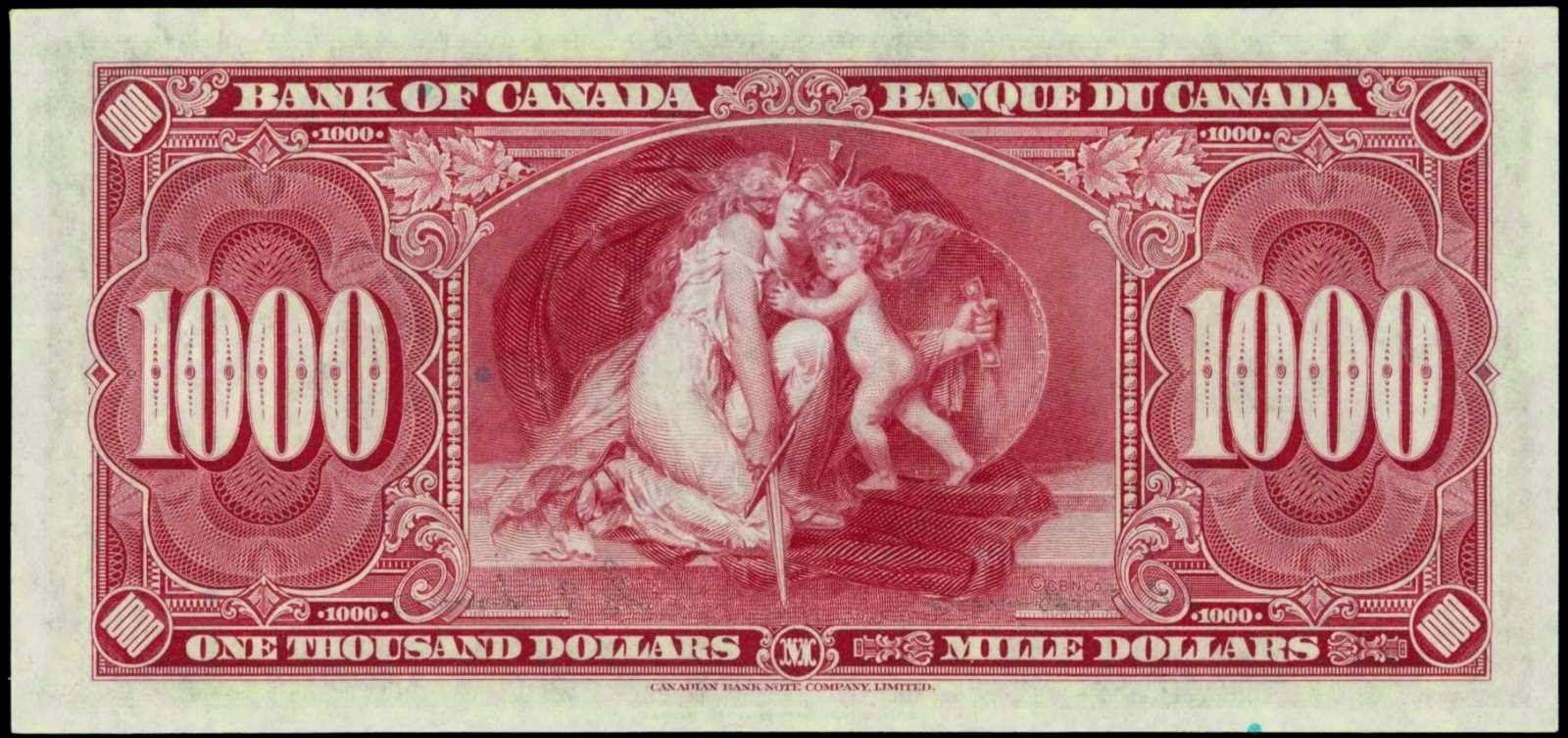 Bank Of Canada 1000 Dollars 1937 Thousand Dollar Bill Canadian Money Canadian Coins