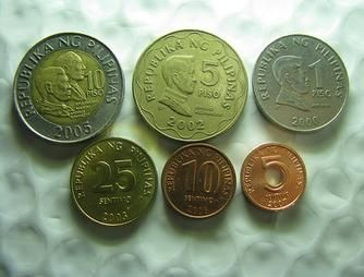 Peso Coins Currency Philippine Pesos