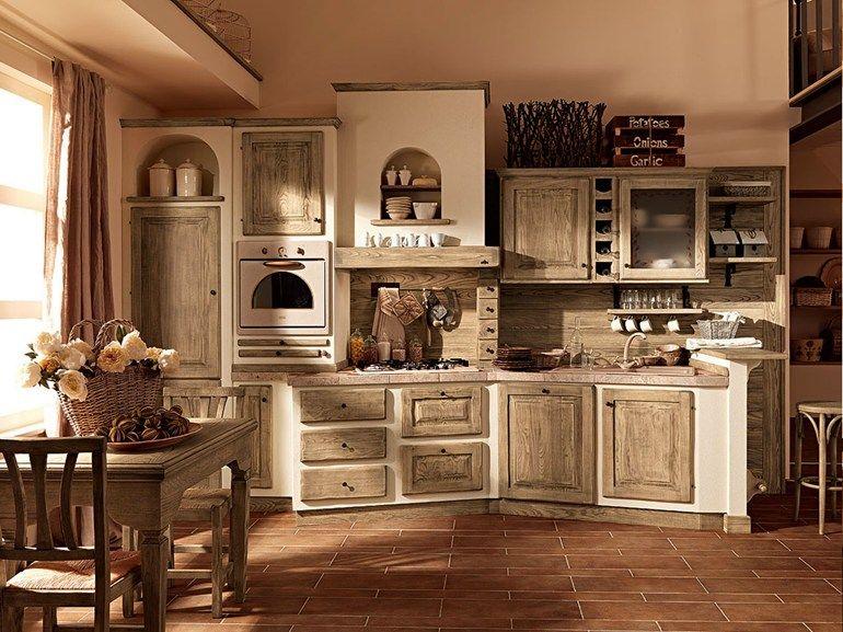 Cucina in legno massello PAOLINA DI OGGI gianduia Collezione Paolina ...