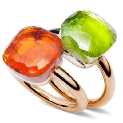 Image detail for -Pomellato New Nudo Collection in Facetted Mandarin Garnet and Peridot.