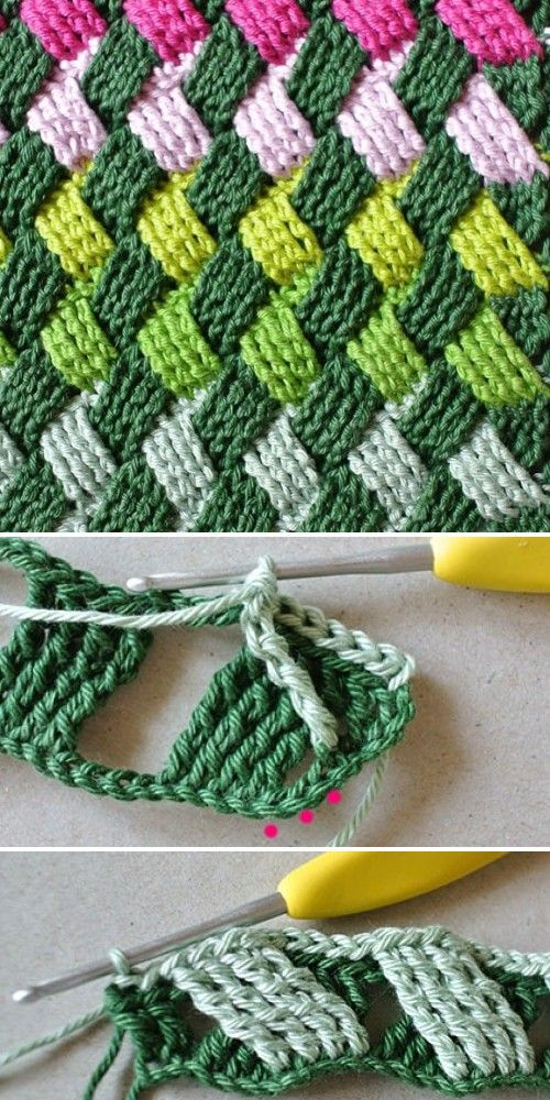 Crochet Basket Weave Stitch - Free Pattern (Beautiful Skills - Crochet Knitting Quilting) #crochetstitches