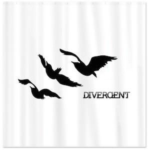 Divergent raven tattoo shower curtain divergent for Divergent tris bird tattoo