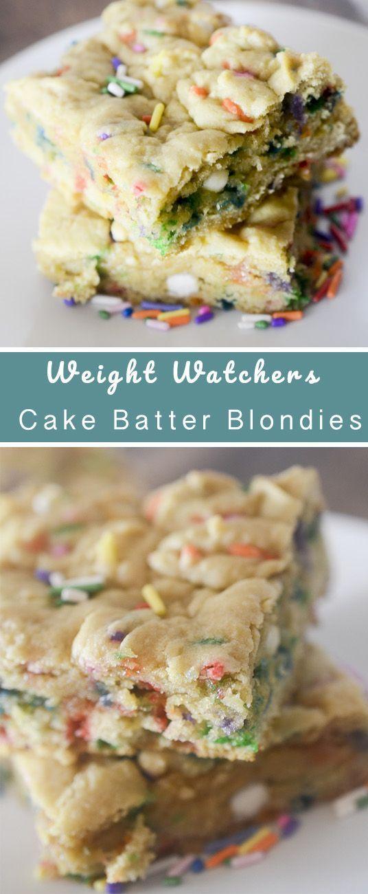 Skinny Cake Batter Blondies Recipe Weight Watchers Love