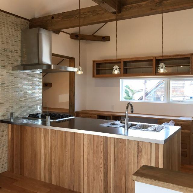 Kitchen パヴォーネ カップボード アリエッタ 弟も木工作家 インシュレーターランプ などのインテリア実例 2017 03 28 12 51 32