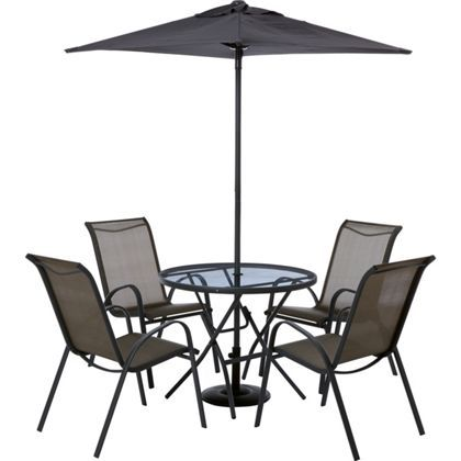 andorra 4 seater metal garden furniture set collect in store
