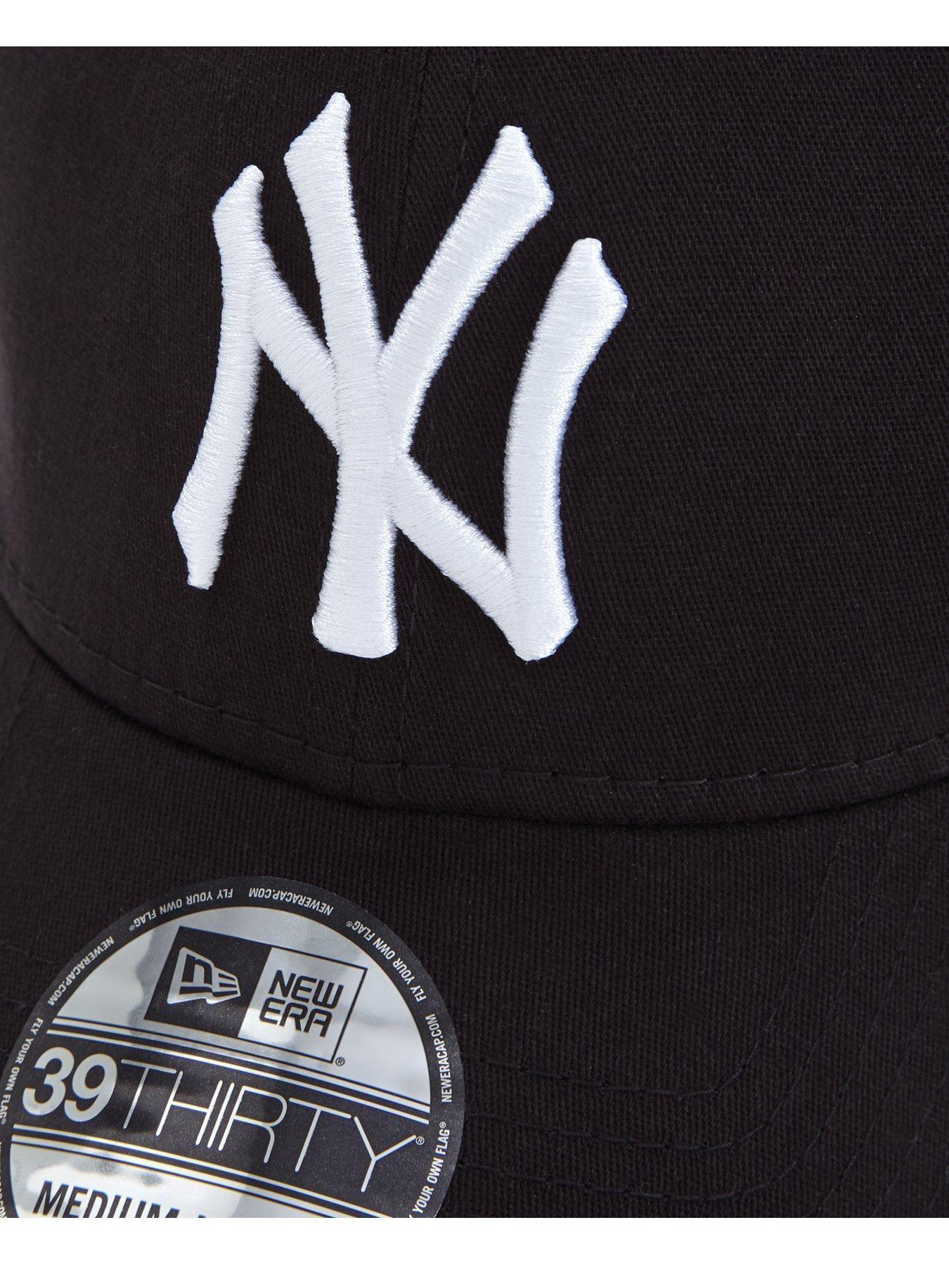 New Era New York Yankees Stretch Fit Cap Black Size M L Men Black M L New York Yankees Fitted Caps New Era Logo