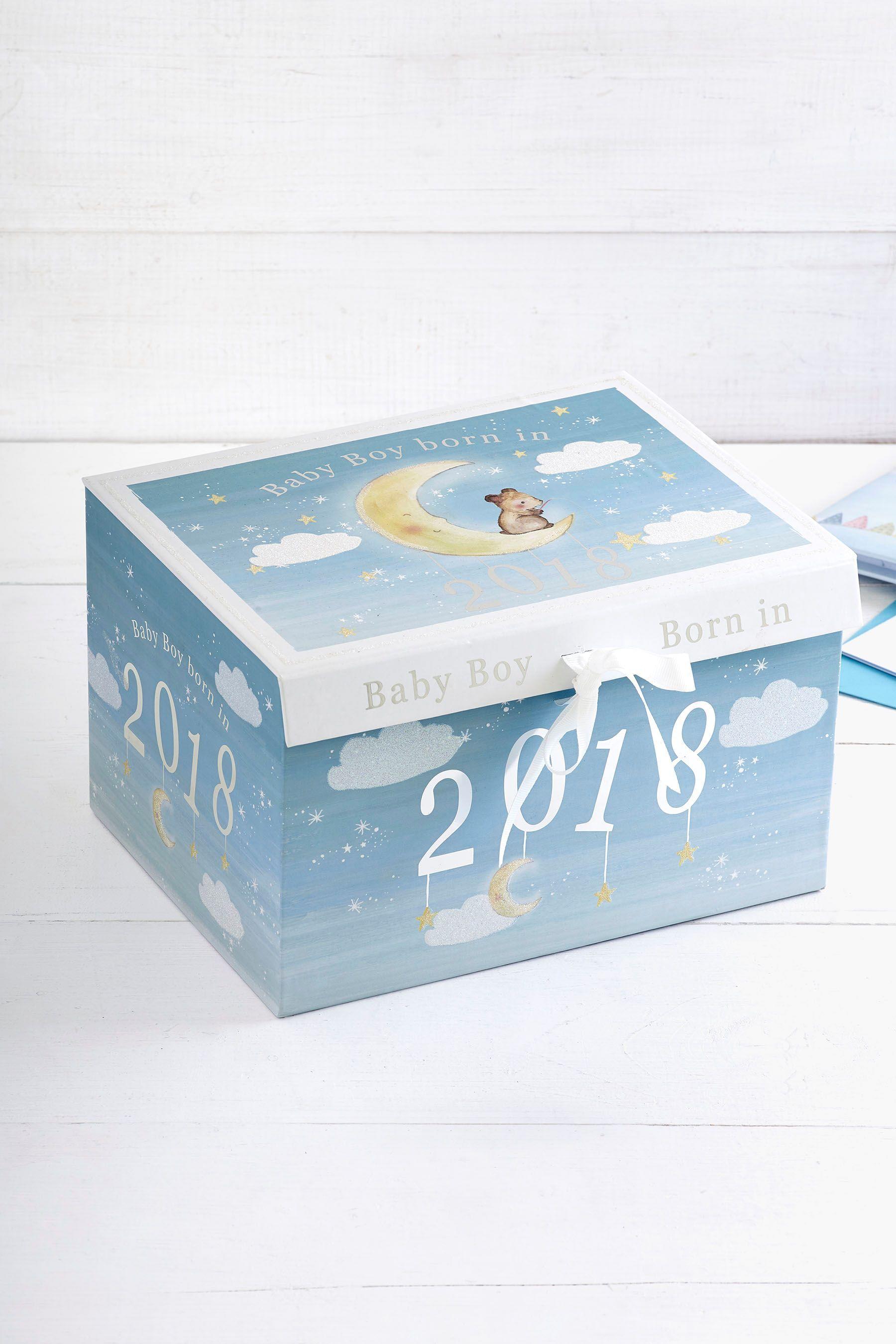 4e014c9142a9 Boys Next Born In 2018 Baby Boy Keepsake Box - Blue