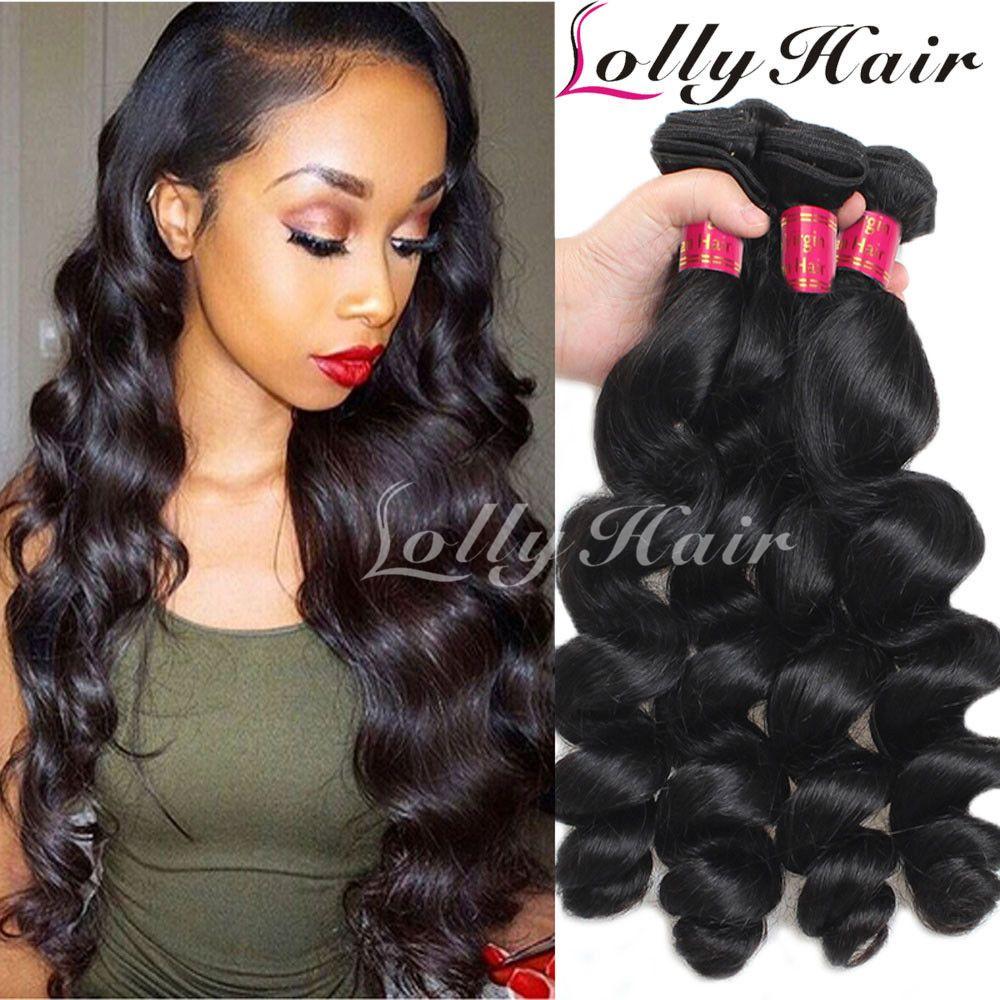 8a 3 Bundles Brazilian Loose Wave Virgin Hair Unprocessed Virgin Human Hair Weft Hairbundles Hair Bodywave Deepwave Curl Loose Waves Hair Hair Styles Hair