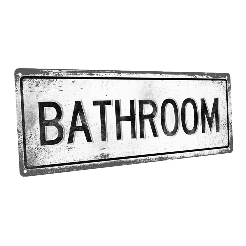 Bathroom Metal Sign Wall Decor For Bath Or Laundry Etsy Metal Signs Wall Signs Laundry Decor