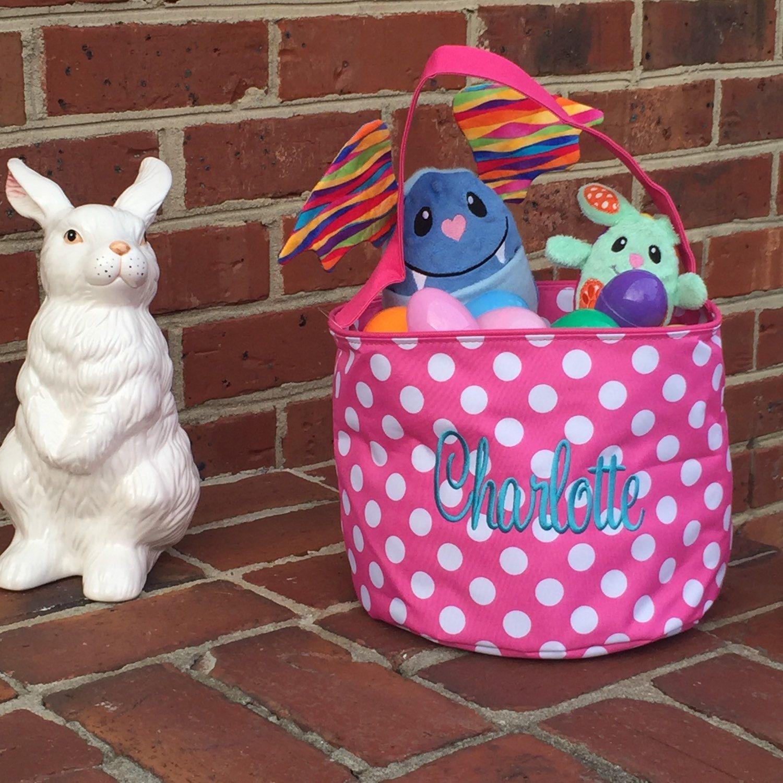 Easter Basket Monogrammed Easter Basket Easter Bucket Personalized Easter Basket Kaileysmonogram by KaileysMonogramShop on Etsy#Easter #monograms #EasterBasket #monogrammedeasterbasket