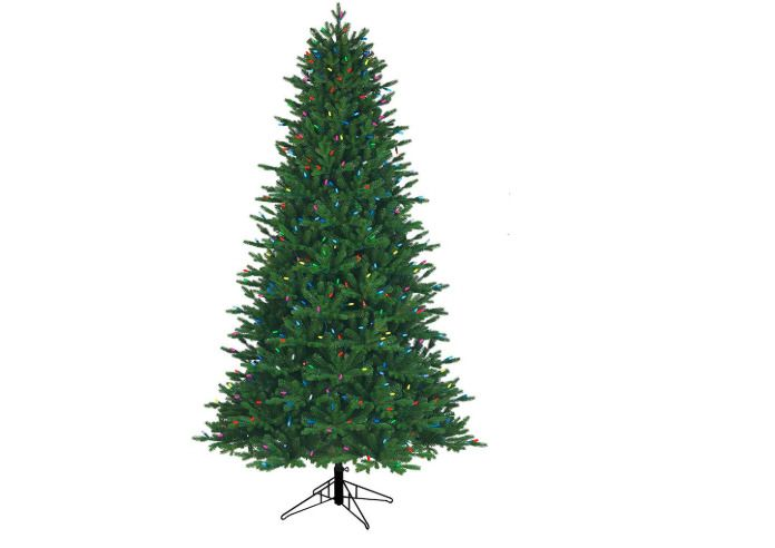 Artificial Christmas Tree 75 ft 1-Plug Aspen Fir Red Green Blue