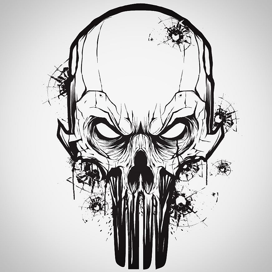 Hydro74 On Instagram Little Vector Mouse Click Warm Up With A Punisher Skull Punisher Vector Punisher Skull Skulls Drawing Skull Art