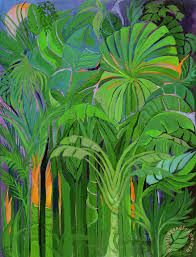 Image result for rainforest abstract art