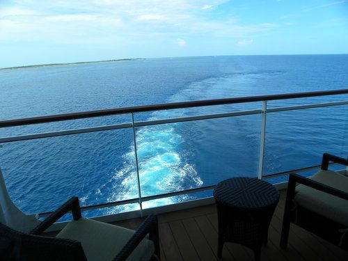 Aft View from Penthouse Cabin Balcony