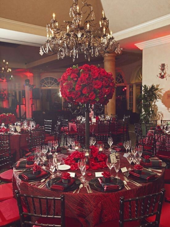 Beautiful Red Rose Victorian Themed Wedding