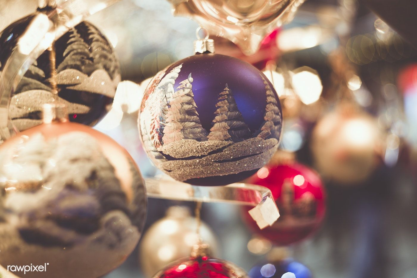 Close up of Christmas decorations free image by rawpixel