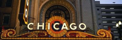 Close-up+of+the+entrance+of+a+stage+theater,+Chicago+Theater,+Chicago,+Illinois,+USA