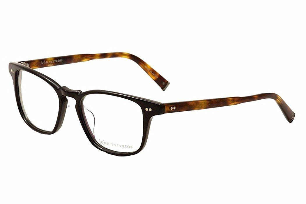 John Varvatos Men\'s Eyeglasses V201 V/201 Black Full Rim Optical ...