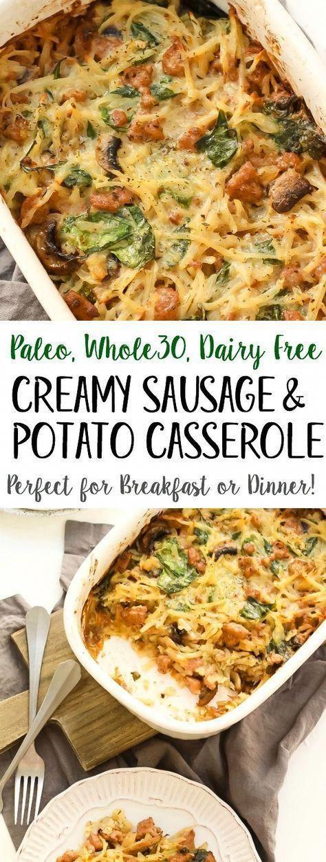 Creamy Sausage & Potato Whole30 Casserole (Paleo + GF) - Whole Kitchen Sink