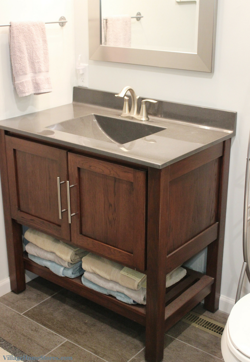 Bath Remodel Uses The Same Tile In Many Sizes Villagehomestores