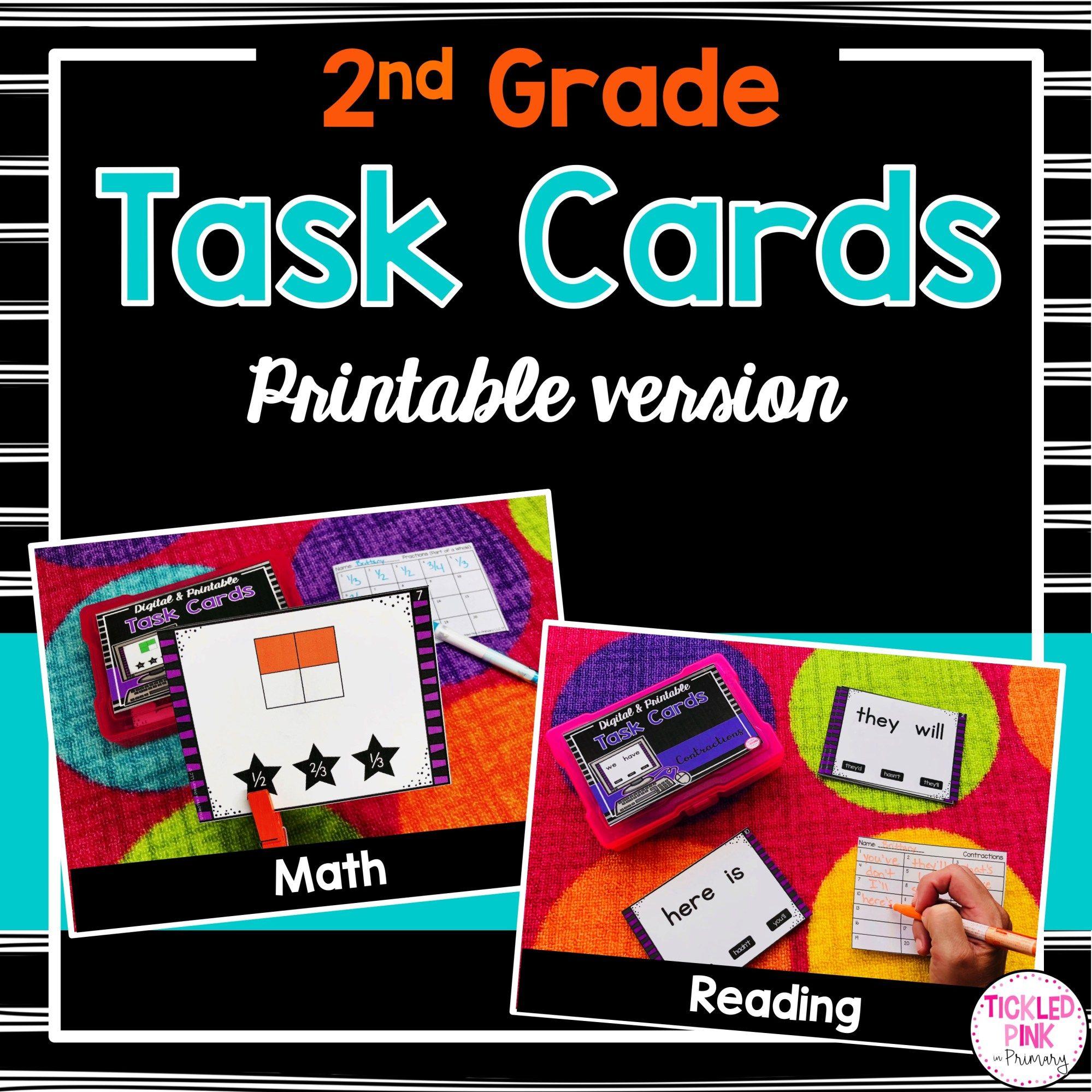 2nd Grade Task Cards Printable Version