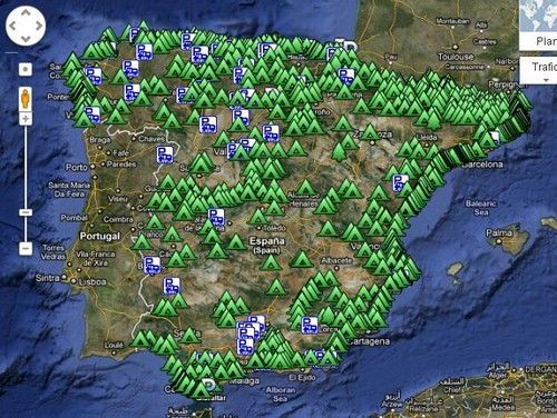 Carte interactive des campings d'Espagne. ! | Let's Go Camping