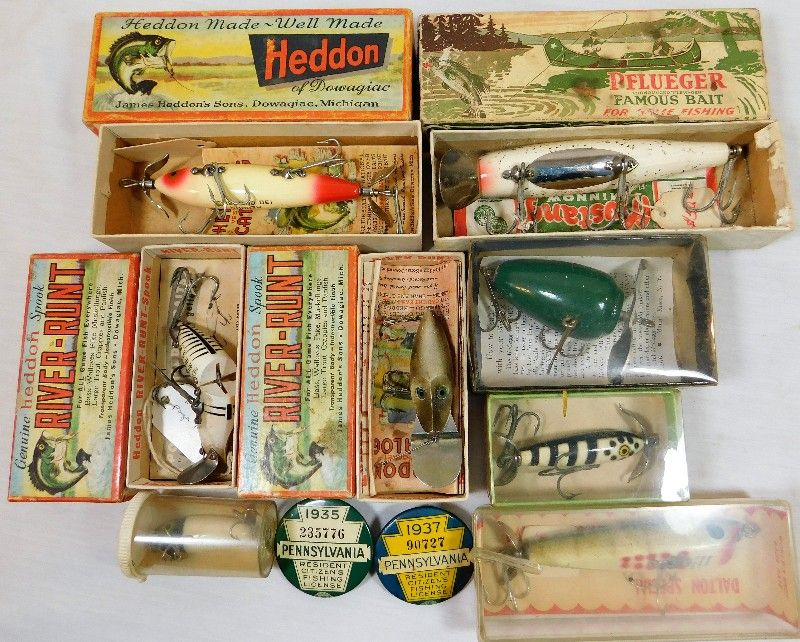 Military Collectibles Auction Auction 4th Street Fishing Lures
