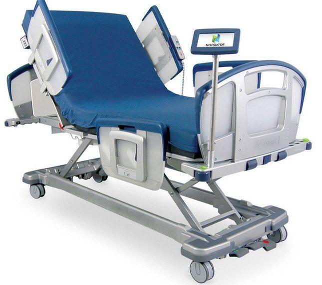cama de hospital electrica ajustable de 4 secciones