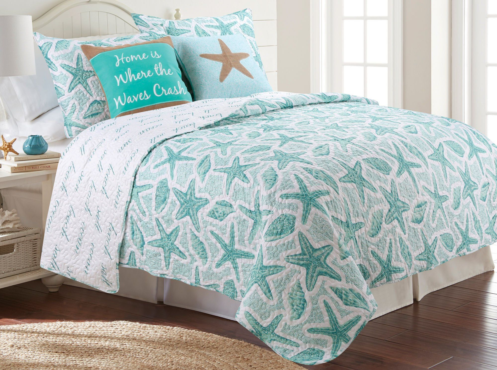Coastal Home Callahan Beach Quilt Set King Aqua * To