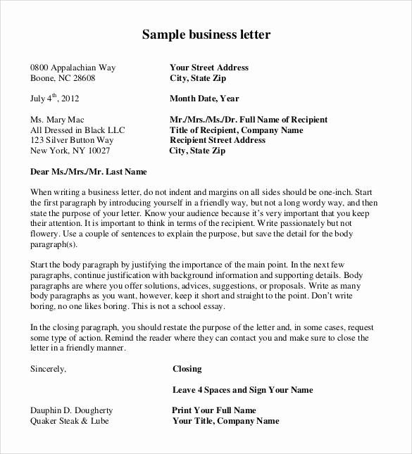 24 Free Business Letter Template (2020)