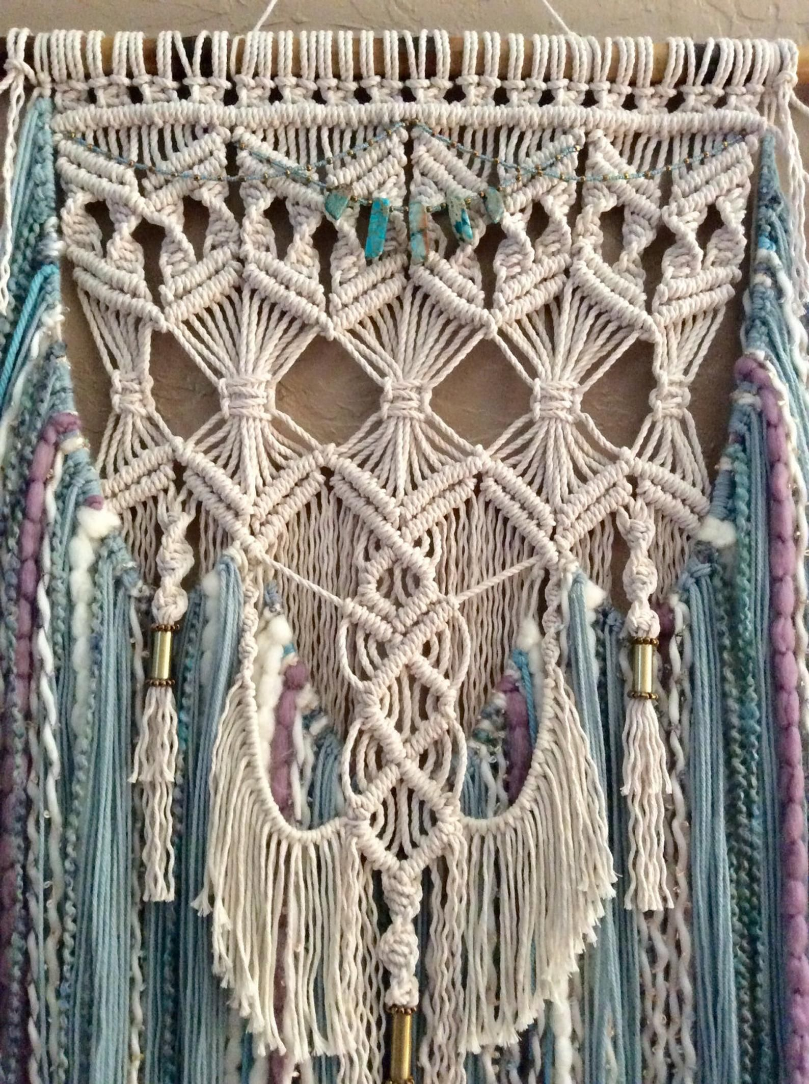 large colored macrame wall hanging woven wall hanging boho on wall hangings id=37170