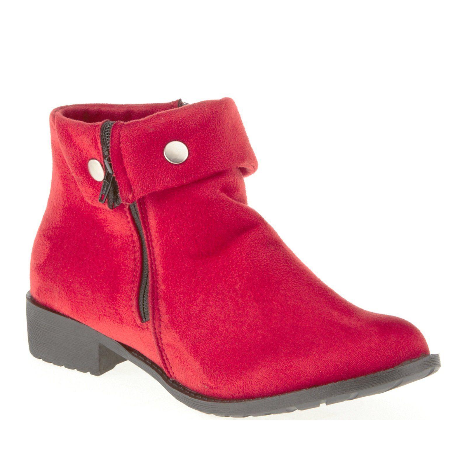 Propet Women's Sidney Boot,Red Velour,8