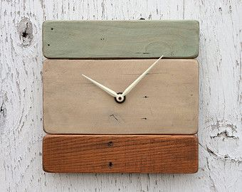 """hand crafted wood clock 