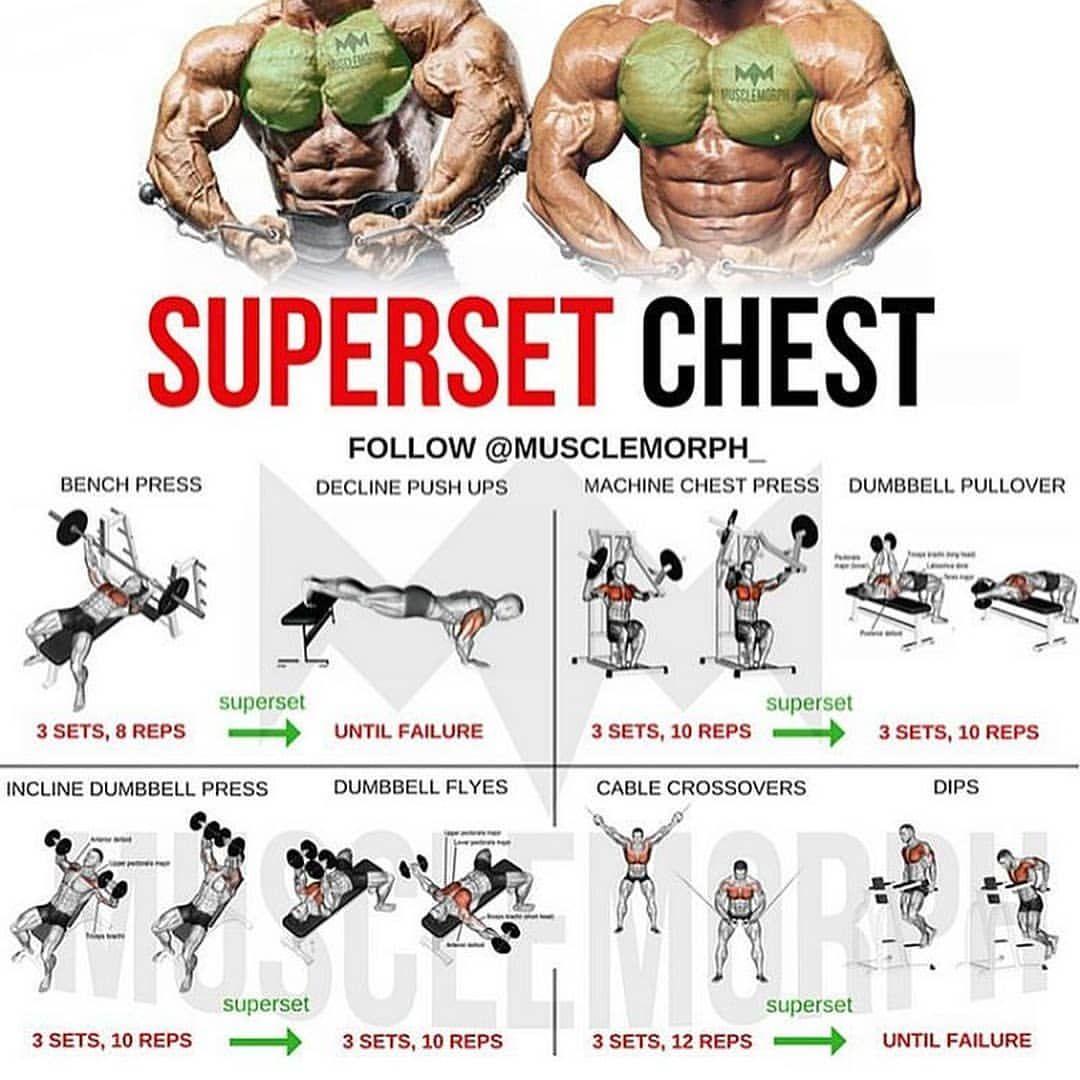(Swipe Left) Complete 6 days a week superset workout plan