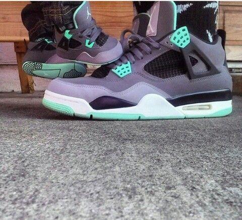 meet a6623 44015 Baby in sick kicks ♥ #jordans #green #glow #4s   Jordans ...